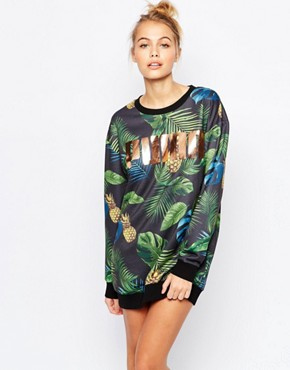 photo Sweat Dress with All Over Eco Print & Rose Gold Logo by Puma, color Multi - Image 1
