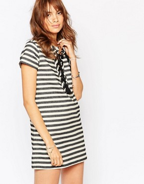 photo Stripe Dress with Lace Up Front by Pepe Jeans, color Multi - Image 1