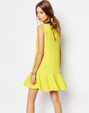 photo Drop Waist Dress in Yellow by Suncoo, color Yellow - Image 2