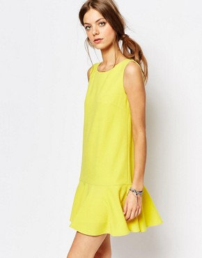 photo Drop Waist Dress in Yellow by Suncoo, color Yellow - Image 1