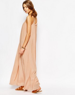 photo Ropeneck Maxi Dress in Pink by Suncoo, color Nude - Image 2