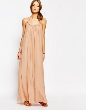 photo Ropeneck Maxi Dress in Pink by Suncoo, color Nude - Image 1