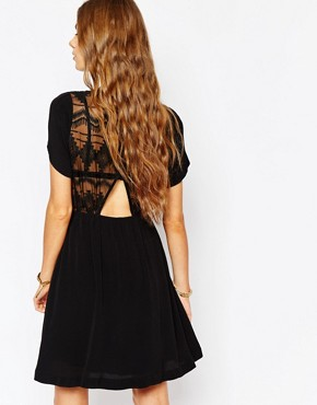 photo Embroidered Dress in Black by Suncoo, color Noir - Image 2