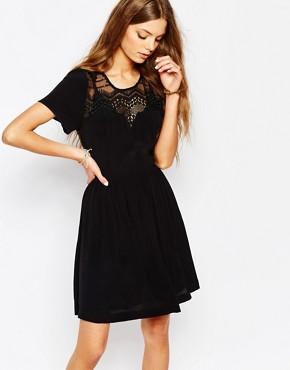 photo Embroidered Dress in Black by Suncoo, color Noir - Image 1