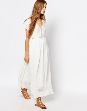 photo Maxi Dress in White by Suncoo, color White - Image 1