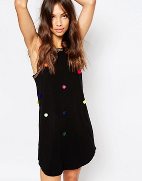 photo Pom Pom Beach Beach Dress by Pitusa, color Black - Image 1