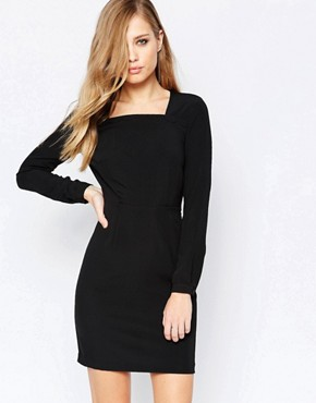 photo Scallop Dress in Black by Sisley, color Black - Image 2