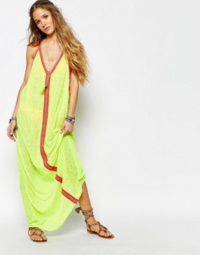 photo Inca Beach Dress by Pitusa, color Lemon - Image 1