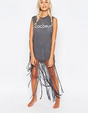 photo Coconut Beach Dress by Wildfox, color Black - Image 1
