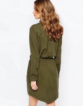 photo Utility Shirt Dress by Pimkie, color Green - Image 2