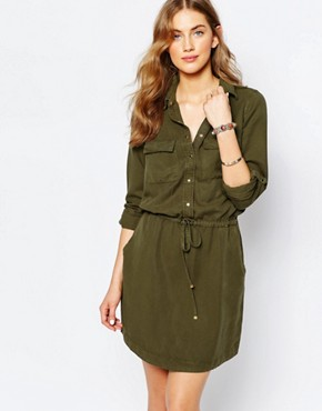 photo Utility Shirt Dress by Pimkie, color Green - Image 1