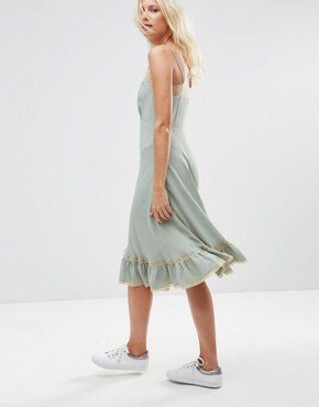photo Cami Dress with Lace Inserts by ASOS PREMIUM, color Blue - Image 2