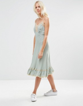 photo Cami Dress with Lace Inserts by ASOS PREMIUM, color Blue - Image 1