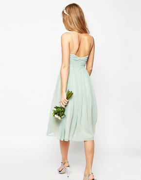 photo Rouched Midi Dress by ASOS WEDDING, color Green - Image 2