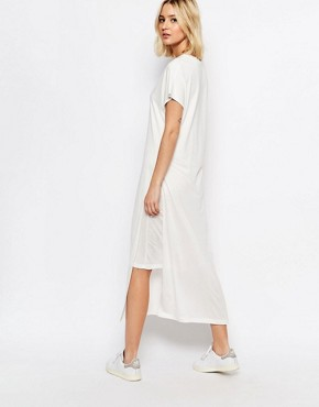 photo Double Layer Jersey Dress by ADPT, color Cream - Image 2
