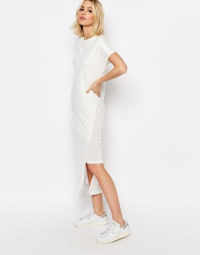 photo Double Layer Jersey Dress by ADPT, color Cream - Image 1
