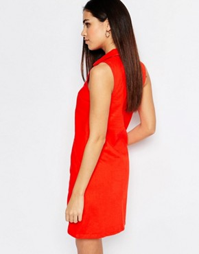 photo Trapeze Dress by Warehouse, color Red - Image 2