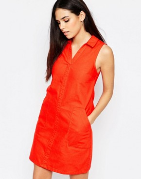 photo Trapeze Dress by Warehouse, color Red - Image 1