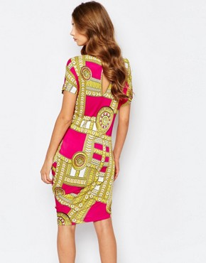 photo Dress with Medal Print by Versace Jeans, color Pink - Image 2