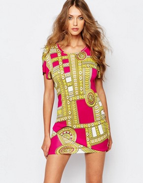 photo Dress with Medal Print by Versace Jeans, color Pink - Image 1