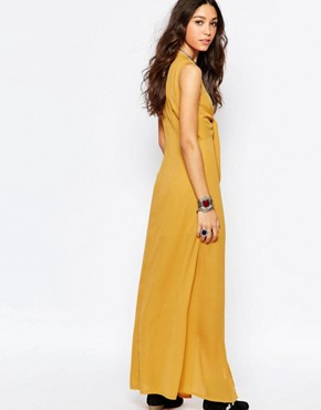 photo Bow Front Maxi Dress by WYLDR, color Yellow - Image 2