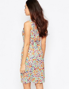 photo Opal Shift Dress in Floral Print by Poppy Lux, color Mint Multi - Image 2