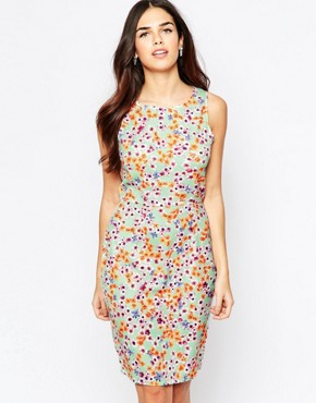 photo Opal Shift Dress in Floral Print by Poppy Lux, color Mint Multi - Image 1