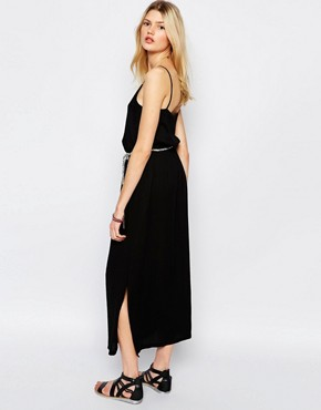 photo Maxi Dress with Rope Tie in Black by Sessun, color Black - Image 2