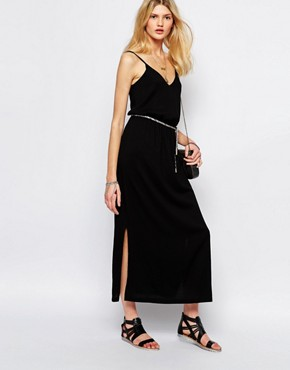 photo Maxi Dress with Rope Tie in Black by Sessun, color Black - Image 1
