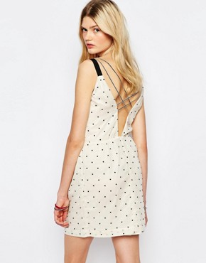 photo Spotted Mini Dress in Cream by Sessun, color Cream - Image 2
