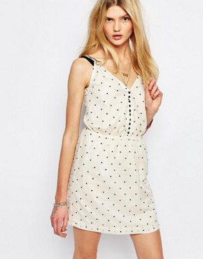 photo Spotted Mini Dress in Cream by Sessun, color Cream - Image 1