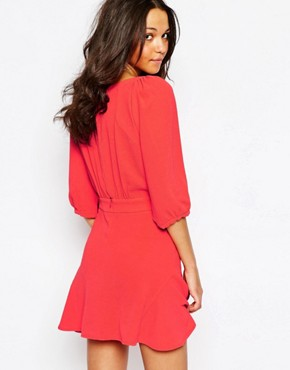 photo Stella Flippy Dress in Red by BA&SH, color Red - Image 2