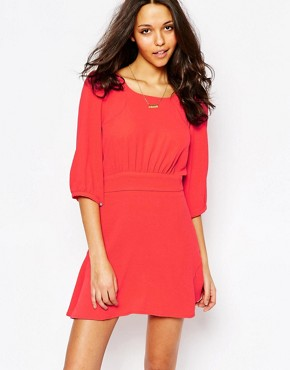 photo Stella Flippy Dress in Red by BA&SH, color Red - Image 1