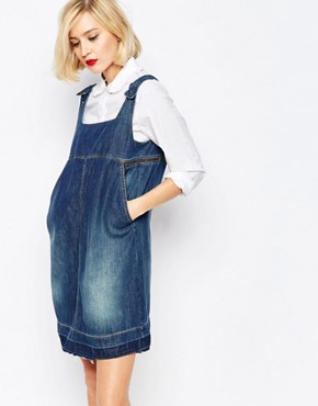 photo Anglomania Denim Dress with Raw Hem and Open Back by Vivienne Westwood, color Blue - Image 1