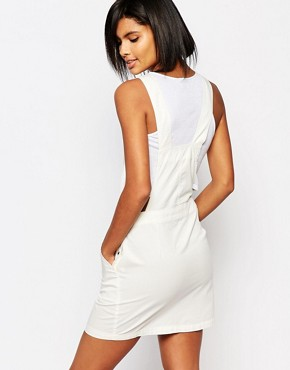 photo Western Embroidered Dungaree Dress by Vero Moda, color White - Image 2