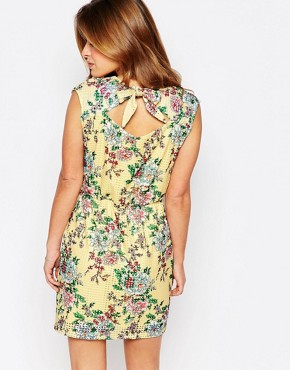 photo Floral Print Skater Dress by Vero Moda Petite, color Multi - Image 2