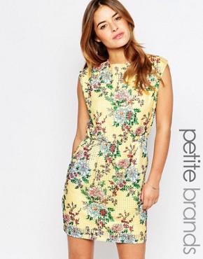 photo Floral Print Skater Dress by Vero Moda Petite, color Multi - Image 1