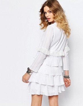 photo Multi Layer Longsleeve Dress in White by Stevie May, color White - Image 2