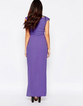 photo Priory Maxi Dress with Split by VLabel London, color Lilac - Image 2