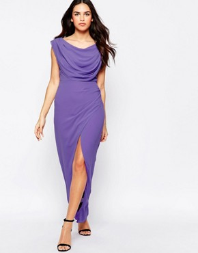 photo Priory Maxi Dress with Split by VLabel London, color Lilac - Image 1