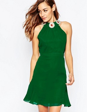 photo Albany Mini Dress by VLabel London, color Green - Image 1