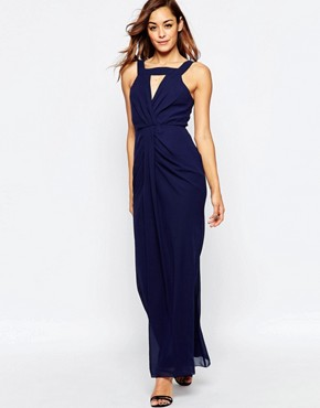 photo Clarence Maxi Dress by VLabel London, color Navy - Image 1