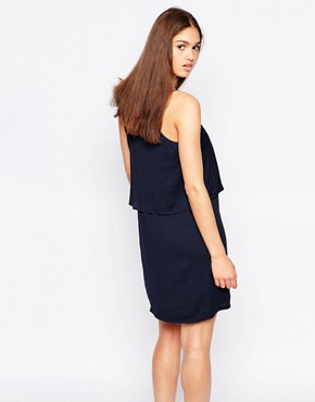 photo Cami Dress with Ruffle Overlay by Minimum, color Patriot Blue - Image 2