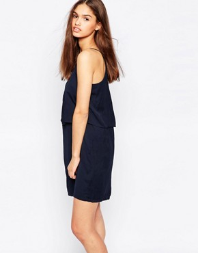 photo Cami Dress with Ruffle Overlay by Minimum, color Patriot Blue - Image 1