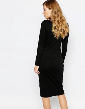 photo Dhinker Bodycon Midi Dress by Supertrash, color Black - Image 2