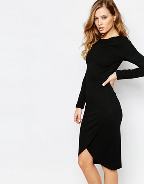 photo Dhinker Bodycon Midi Dress by Supertrash, color Black - Image 1
