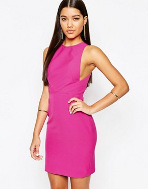 photo Nytro Mini Dress with Open Back by AQ AQ, color Nightlife Pink - Image 2