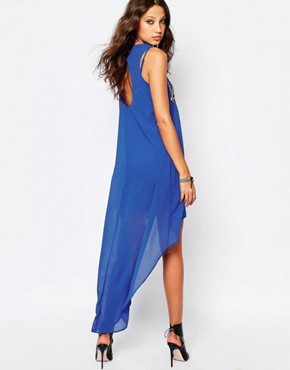 photo Hi Low Dress with Open Back by Noisy May Tall, color Blue - Image 2