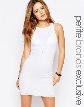 photo Ribbed Bodycon Dress by Noisy May Petite, color White - Image 1
