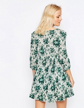 photo 3/4 Sleeve Babydoll Dress in Mason Floral by Denim & Supply by Ralph Lauren, color Mason Floral - Image 2